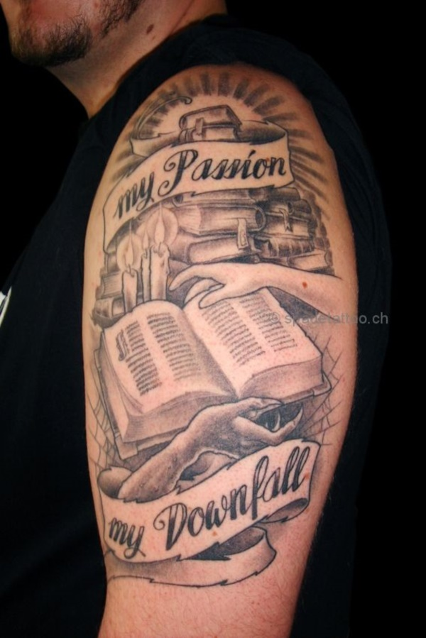 attractive literary book tattoos0311