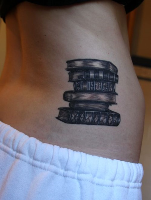 attractive literary book tattoos0341