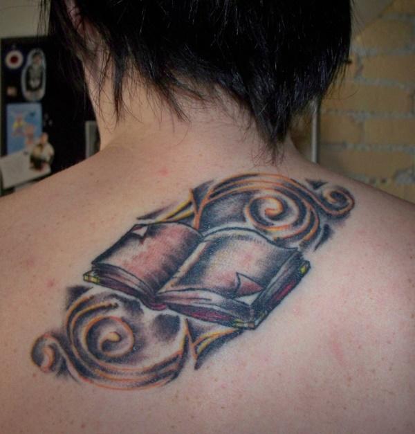 attractive literary book tattoos0351
