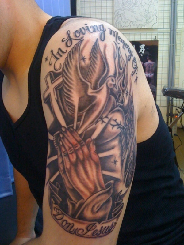 50 Arresting Religious Tattoo Sleeves