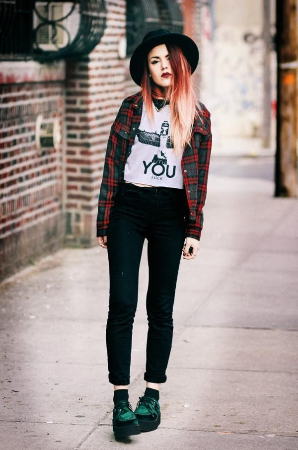 Cool Looking Grunge style Outfits for Girls (11)
