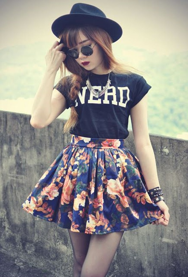 Cool Looking Grunge style Outfits for Girls (13)