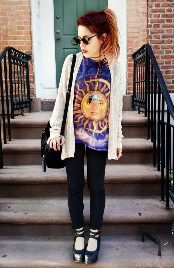 Cool Looking Grunge style Outfits for Girls (15)