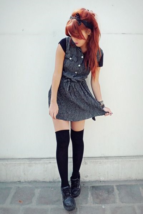 Cool Looking Grunge style Outfits for Girls (19)