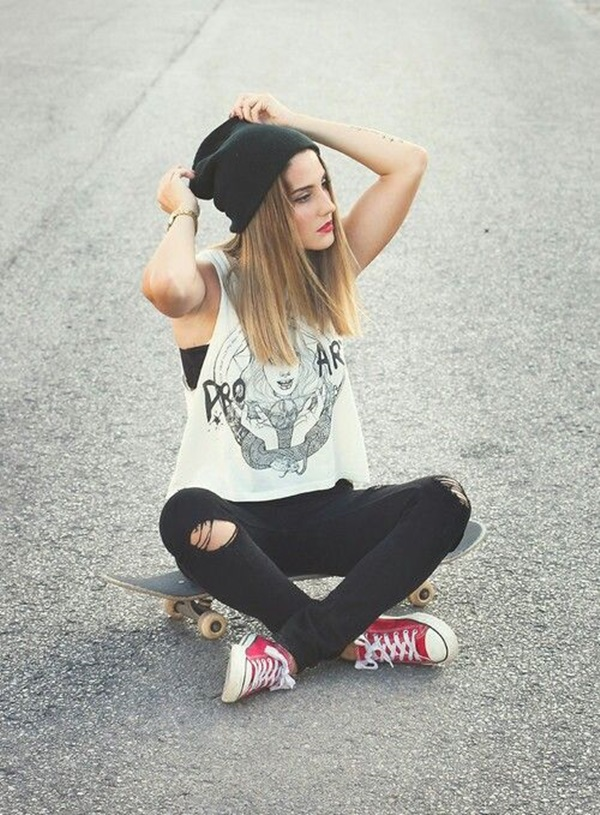 Cool Looking Grunge style Outfits for Girls (20)