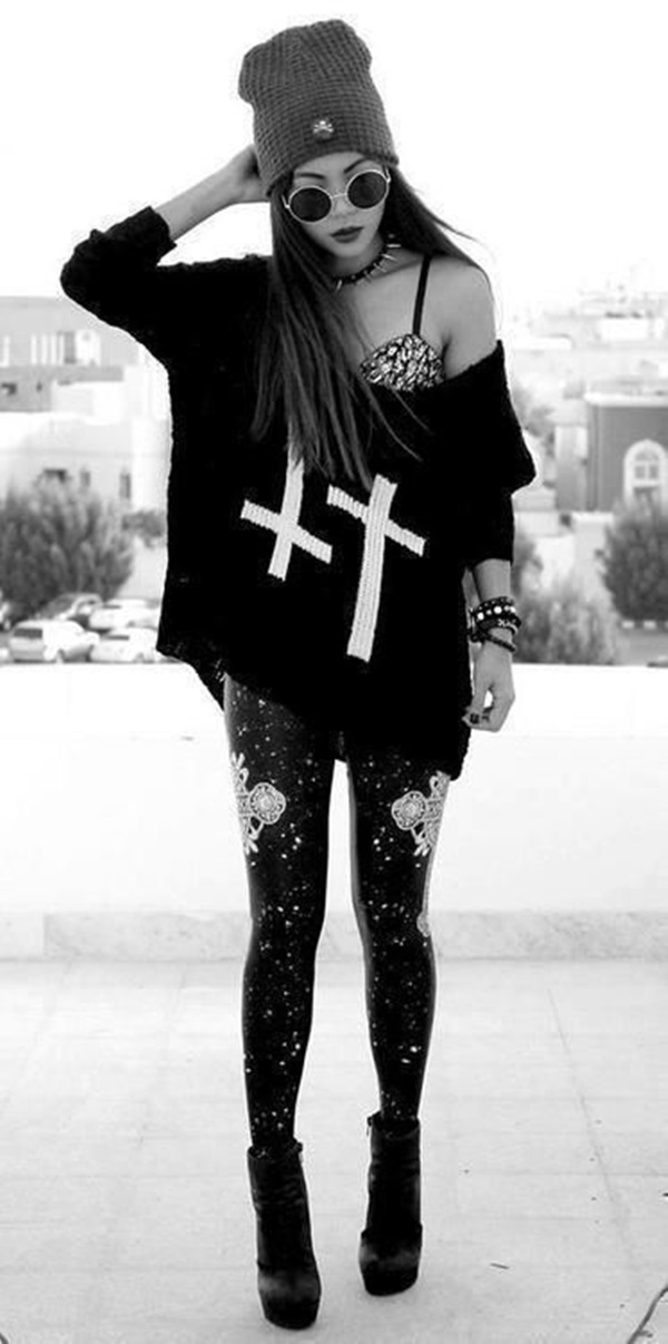 Cool Looking Grunge style Outfits for Girls (4)