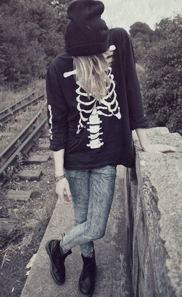 Cool Looking Grunge style Outfits for Girls (6)