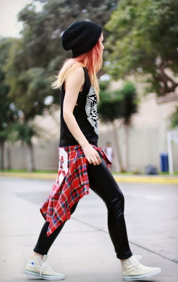 Cool Looking Grunge style Outfits for Girls (8)
