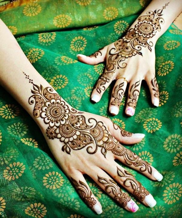 Beautiful Mehandi Designs For Weddings (27)
