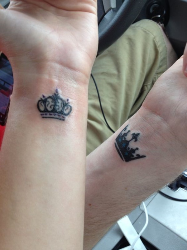 45 cute king and queen tattoo for couples page 3 of 3 for King queen tattoos
