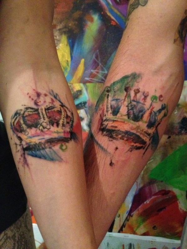 45 Cute king and queen tattoo for couples - Buzz 2018