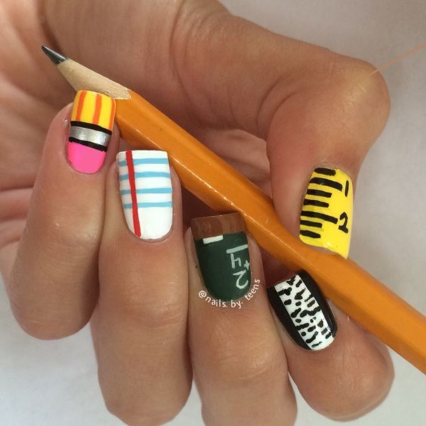 Nail Design Ideas 36 summer nail designs you should try in july Clever Nail Designs Ideas For School Kids0111