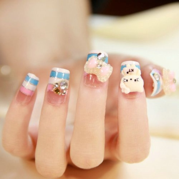 Clever Nail Designs Ideas for School Kids0121