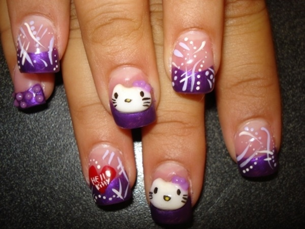 Clever Nail Designs Ideas for School Kids0191
