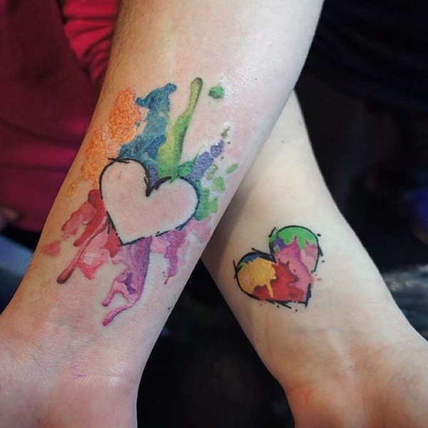 Cute Mr. and Mrs. Tattoos for Perfect Couples - 17