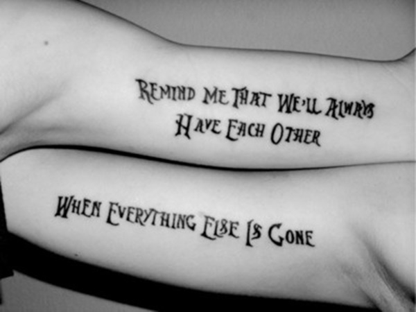 Cute Mr. and Mrs. Tattoos for Perfect Couples - 23