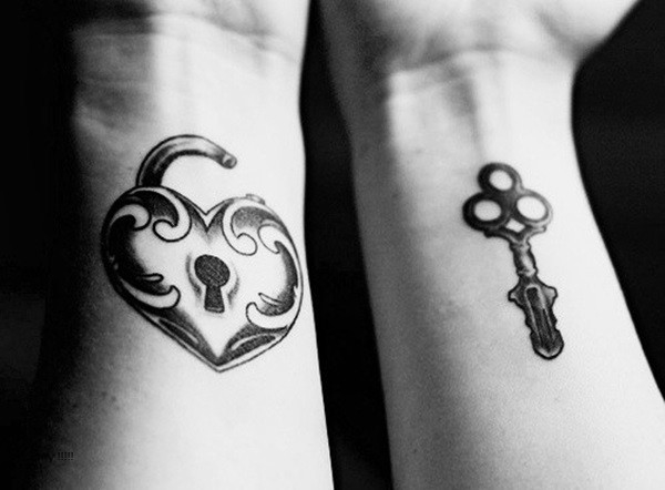 Cute Mr. and Mrs. Tattoos for Perfect Couples - 26