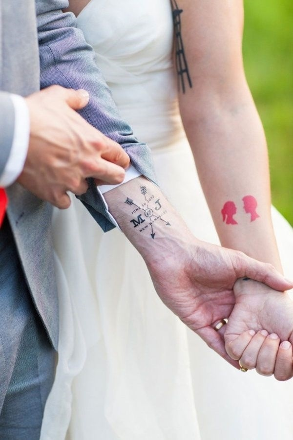 Cute Mr. and Mrs. Tattoos for Perfect Couples - 28
