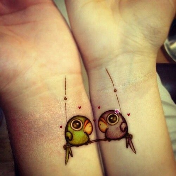 Cute Mr. and Mrs. Tattoos for Perfect Couples - 35