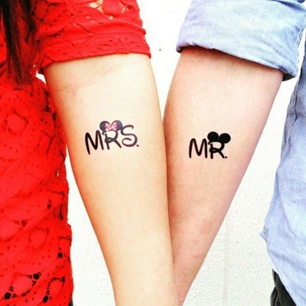 Cute Mr. and Mrs. Tattoos for Perfect Couples - 4