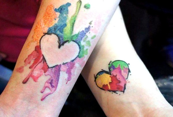 Cute king and queen tattoo for couples0021