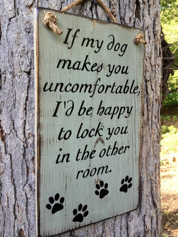 Funny Pet signs to Honor Your Four Legs Buddy - (19)