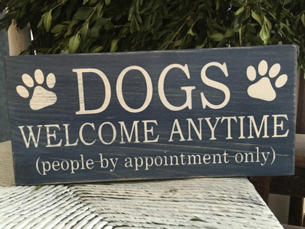 Funny Pet signs to Honor Your Four Legs Buddy - (35)