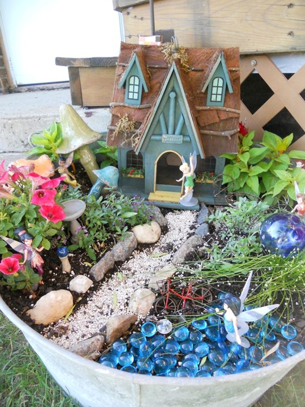 40 majestic fairy garden installations - How to make a fairy garden container ...