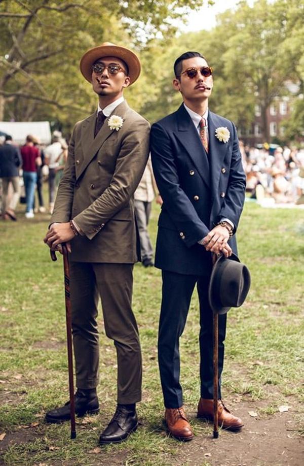 Old School Men's Suit Looks - 12