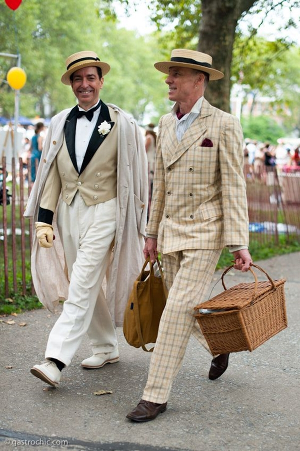 Old School Men's Suit Looks - .