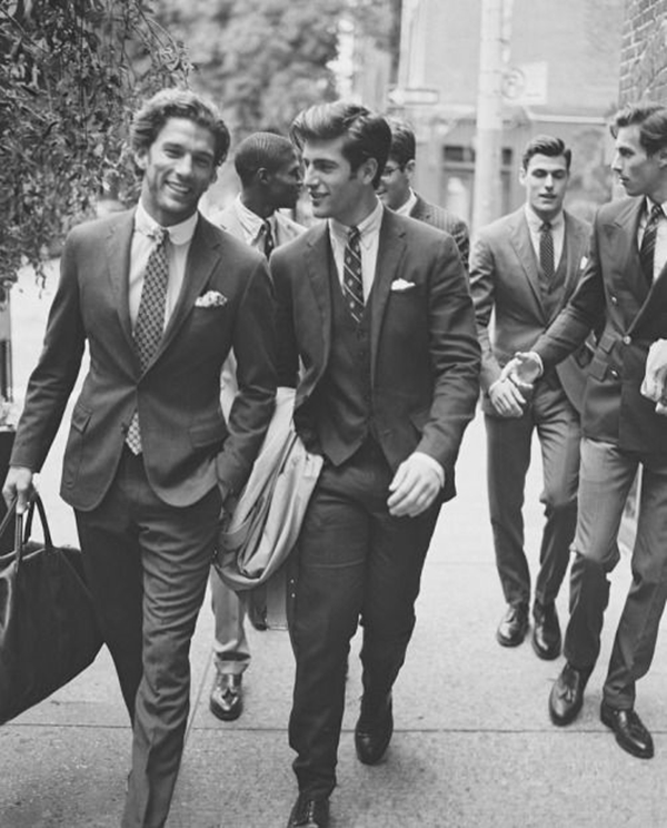 Old School Men's Suit Looks - 25