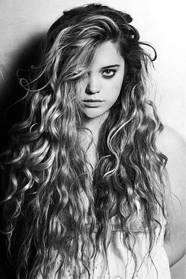 40 Perfekt unvollständig lockiges Haar Frisuren