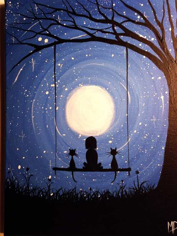 Best Canvas Painting Ideas for Beginners - (15)