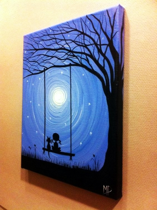 Best Canvas Painting Ideas for Beginners - (25)