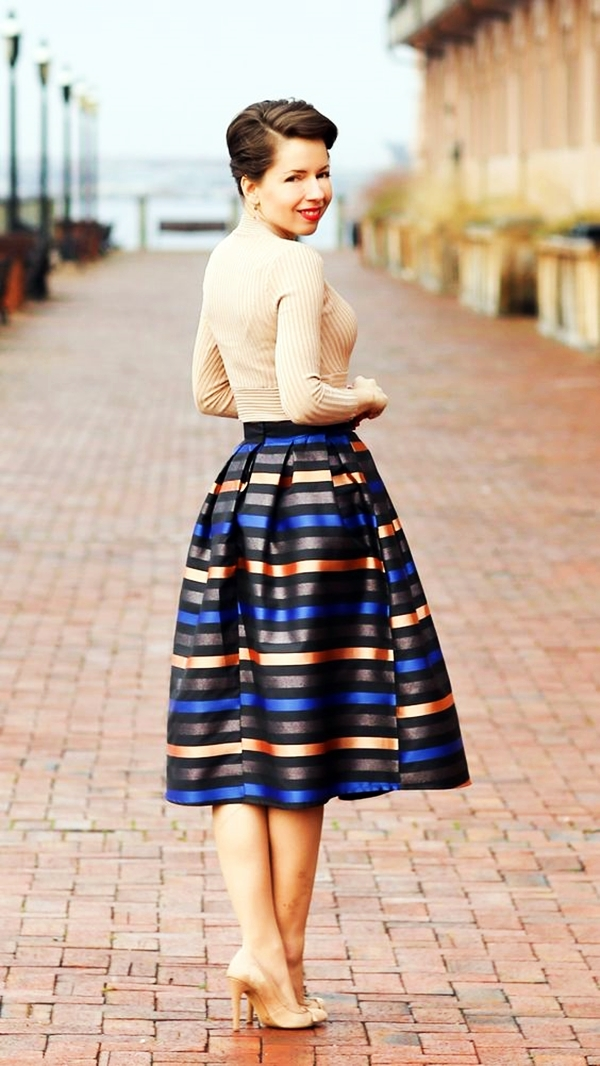 Trending Striped Skirt Outfits For 2016 - (11)