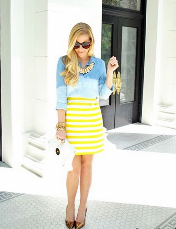 Trending Striped Skirt Outfits For 2016 - (15)