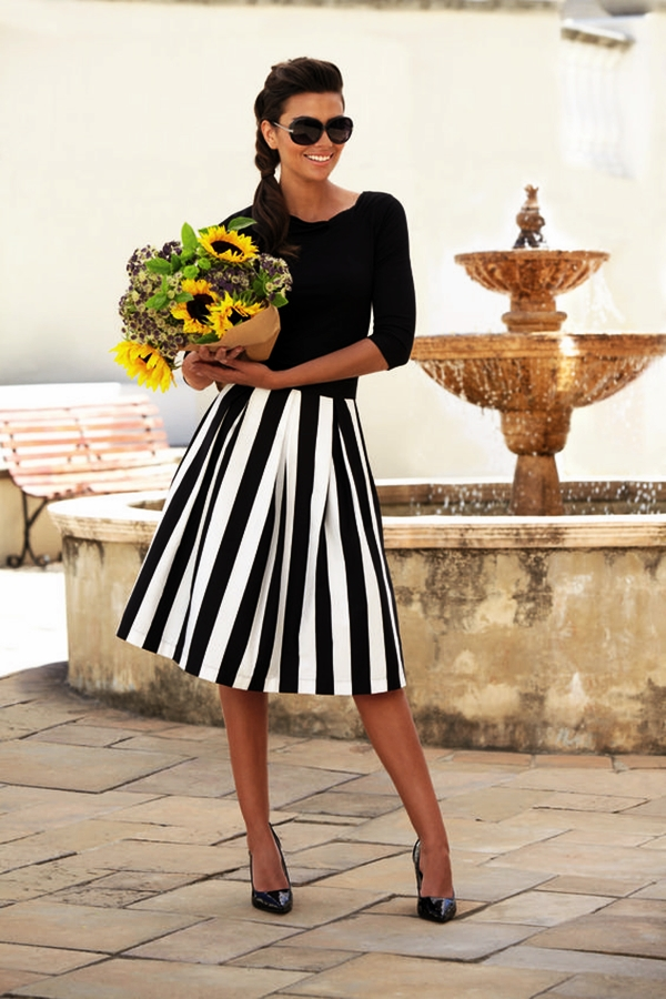 Trending Striped Skirt Outfits For 2016 - (18)