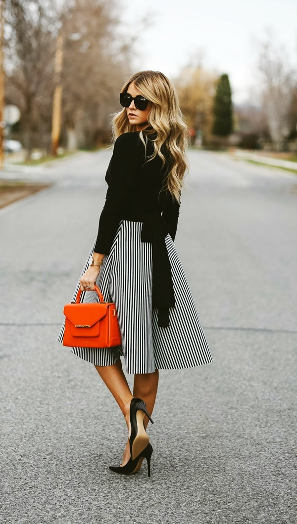 Trending Striped Skirt Outfits For 2016 - (19)