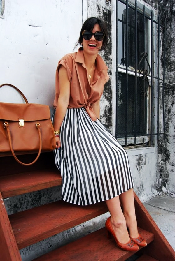 Trending Striped Skirt Outfits For 2016 - (20)
