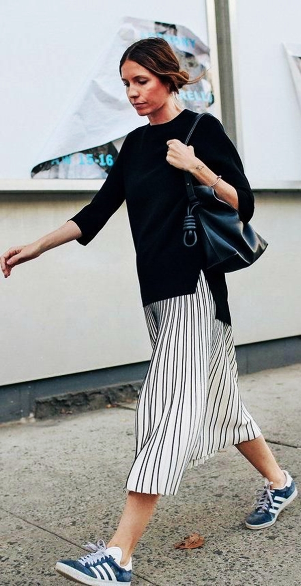 Trending Striped Skirt Outfits For 2016 - (21)