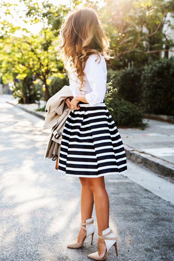 Trending Striped Skirt Outfits For 2016 - (22)
