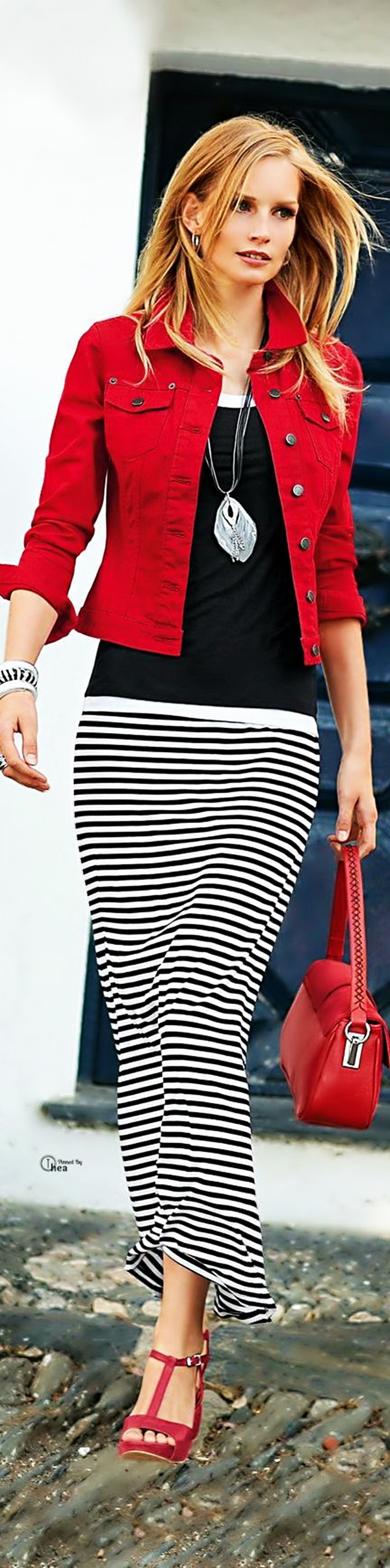 Trending Striped Skirt Outfits For 2016 - (23)