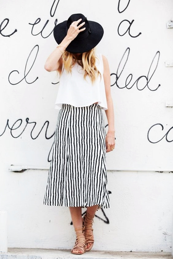 Trending Striped Skirt Outfits For 2016 - (27)