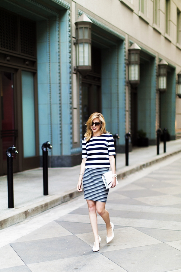 Trending Striped Skirt Outfits For 2016 - (29)