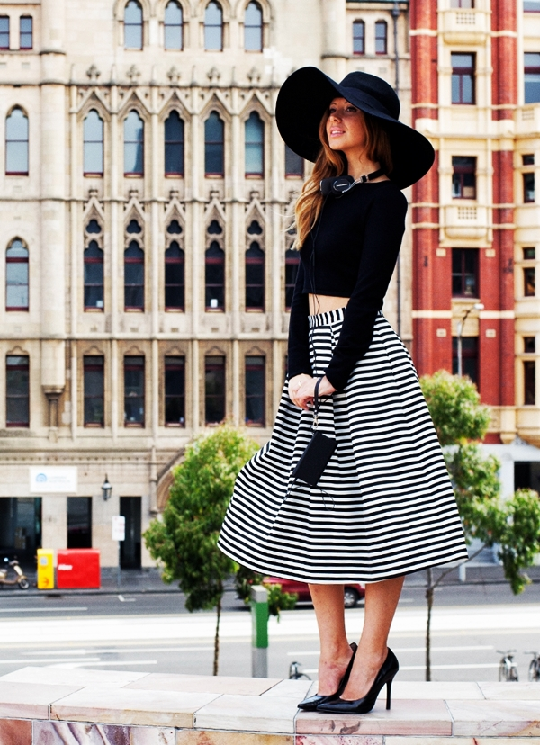 Trending Striped Skirt Outfits For 2016 - (33)