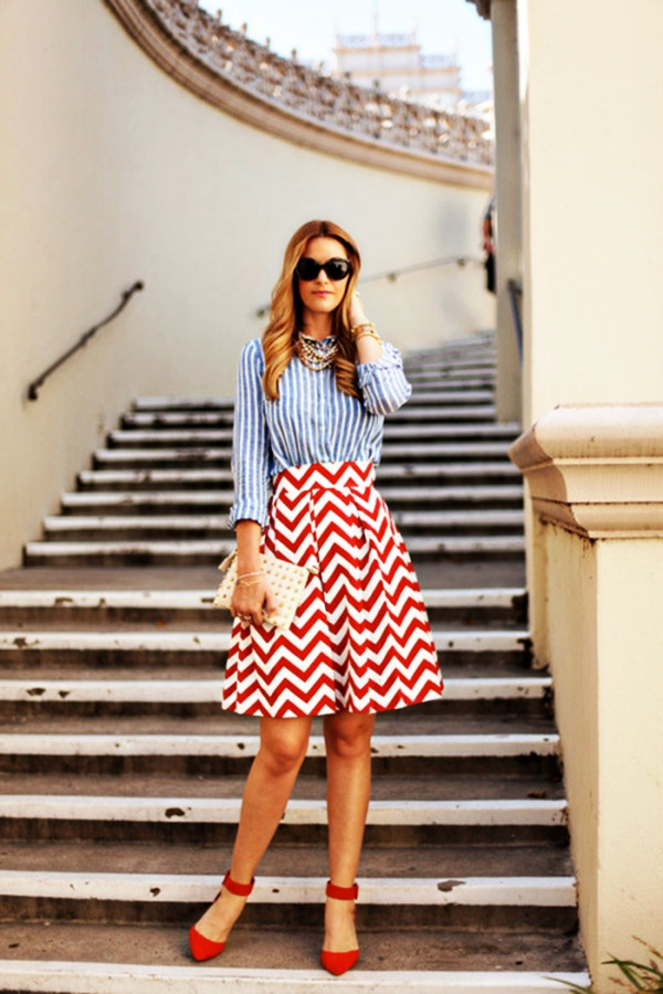 Trending Striped Skirt Outfits For 2016 - (35)