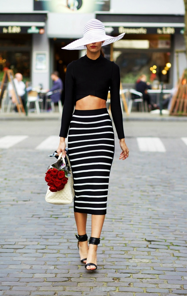 Trending Striped Skirt Outfits For 2016 - (36)