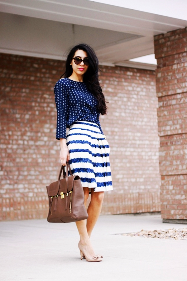 Trending Striped Skirt Outfits For 2016 - (37)