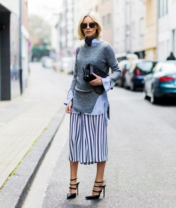 Trending Striped Skirt Outfits For 2016 - (4)