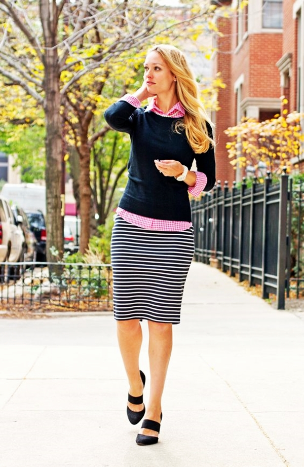 Trending Striped Skirt Outfits For 2016 - (6)